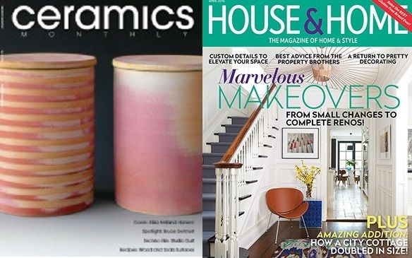 April is a busy month at Ken Gangbar Studio; Featured in Ceramic Monthly AND House & Home #GangbarART  http://www.kengangbar.com/