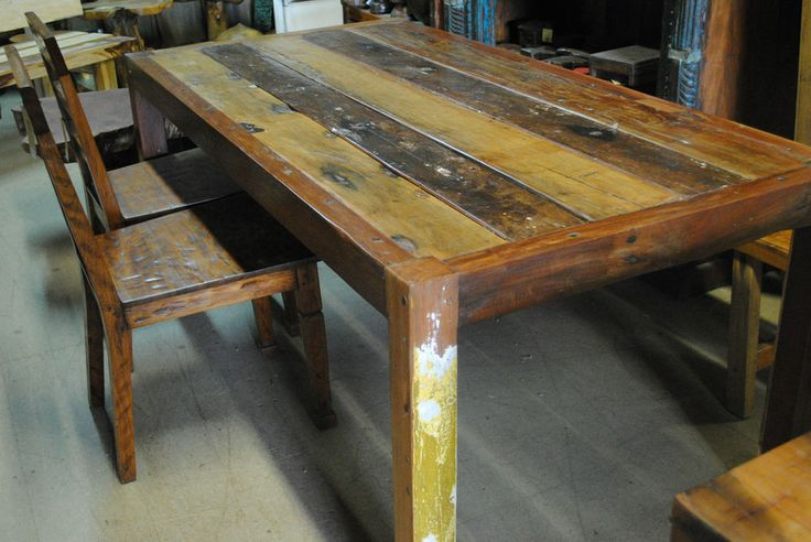 unique rustic 10 seater dining table recycled boat