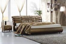 A605-a # мебель для дома большая кровать мягкая кожаная кровать(China (Mainland))