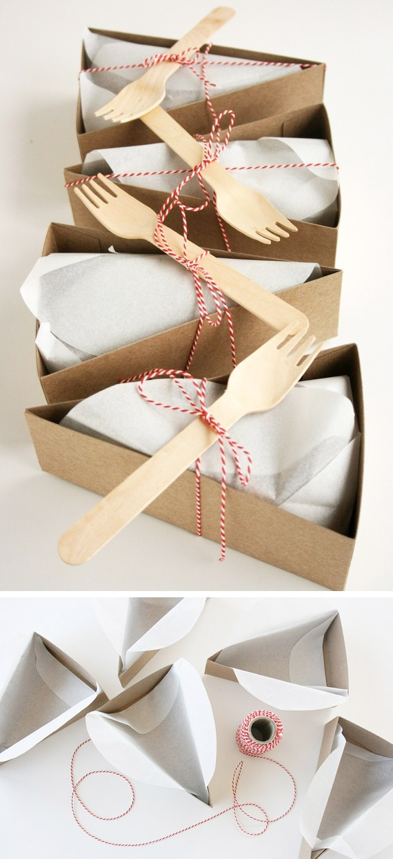 Pie Single Wedge Box. Sweetly packaged. See a DIY template here: http://pinterest.com/pin/263601384409214856/