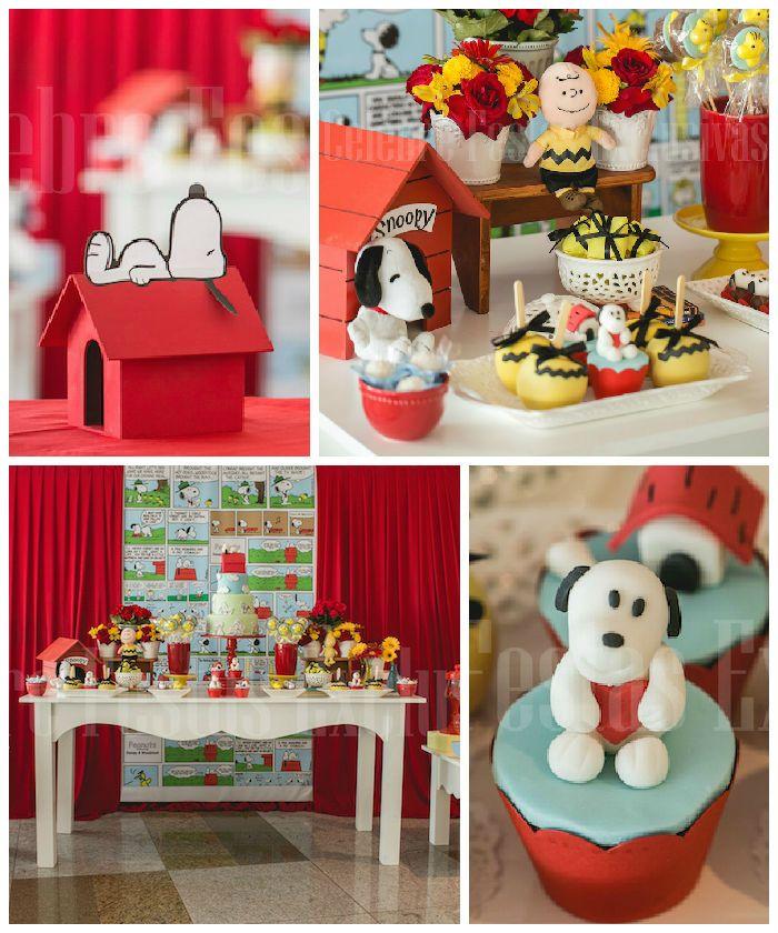Snoopy fiesta de cumpleaños temática a través de Partido Ideas KarasPartyIdeas.com #snoopyparty de Kara (1)