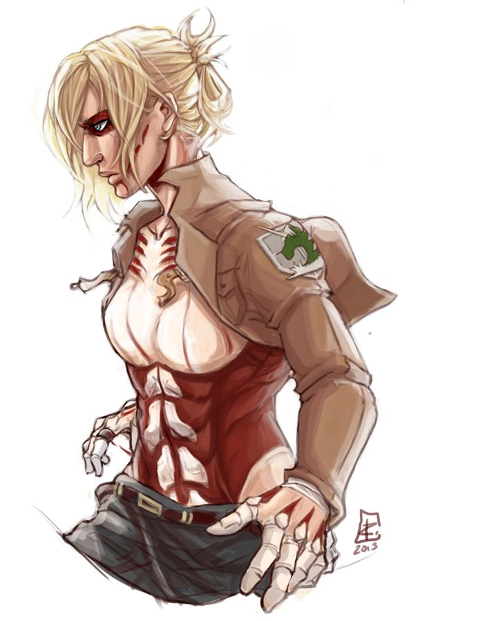 Annie Leonhardt, the female titan.