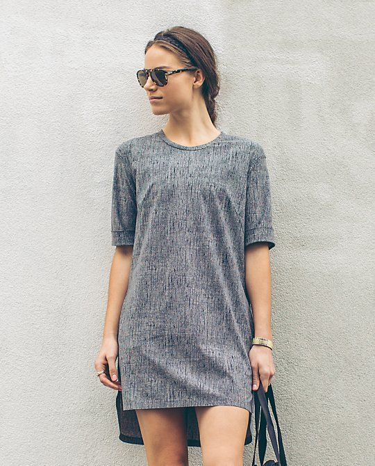 Awesome travel dress!  This is all you need.  Wear solo or as a tunic with jeans/leggings.