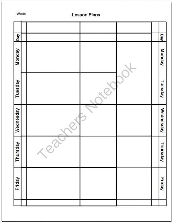 Blank Lesson Plan Template from Imagination Station on TeachersNotebook.com (3 pages)  - Blank Lesson Plan Template