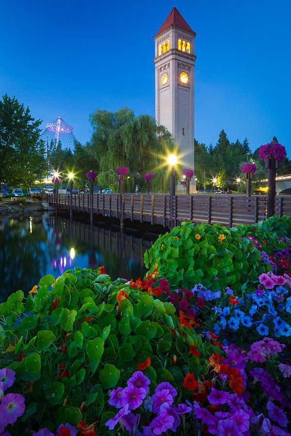 ✮ Spokane Clocktower by Night