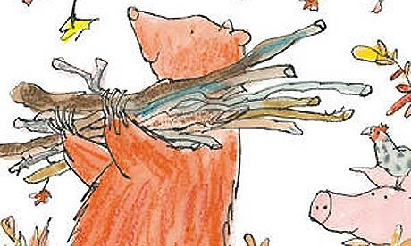 Quentin Blake's cover illustration for The Bear's Winter House
