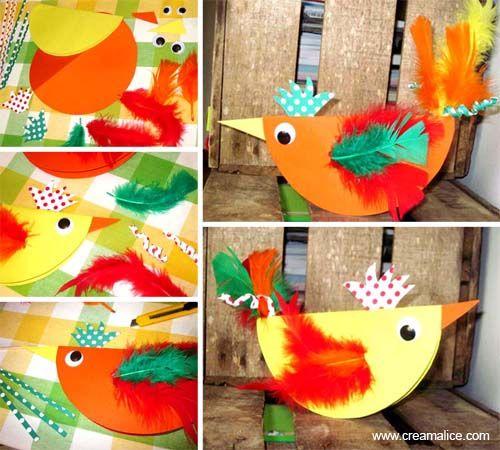 ¨°o.O Poule de Pâques en papier / Paper Easter Hens O.o°¨  http://www.creamalice.com/Coin_conseils/1-loisirs_creatifs_2013/3-Tuto_Poule_de_Paques_en_papier/Tuto_DIY_Poule_de_Paques_en_papier.htm  www.creamalice.com