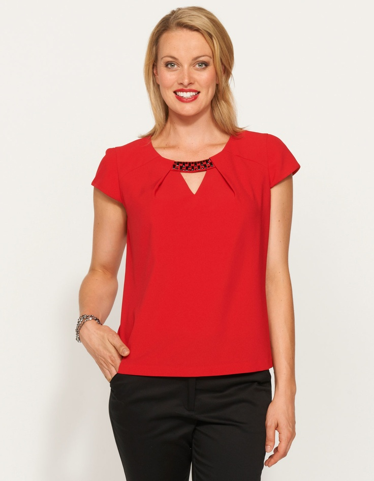 Keiser Keyhole Blouse from JacquiE