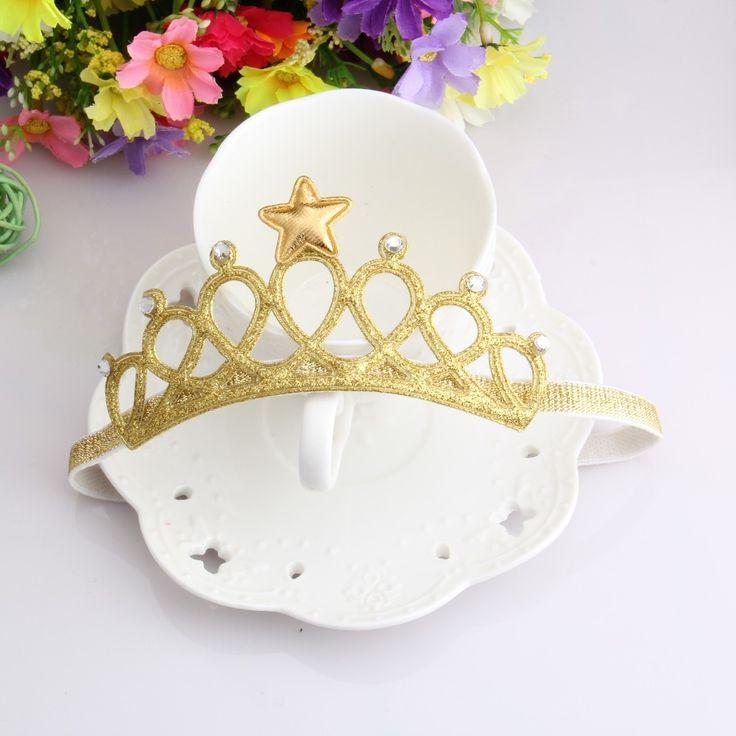 New Arrival Glittering Crown Baby Headband Girls Hair Band New Head Wrape Infant Hair Accessories Princess Tiara Headband