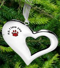PS I Love You Paw Print Ornament at The Animal Rescue Site