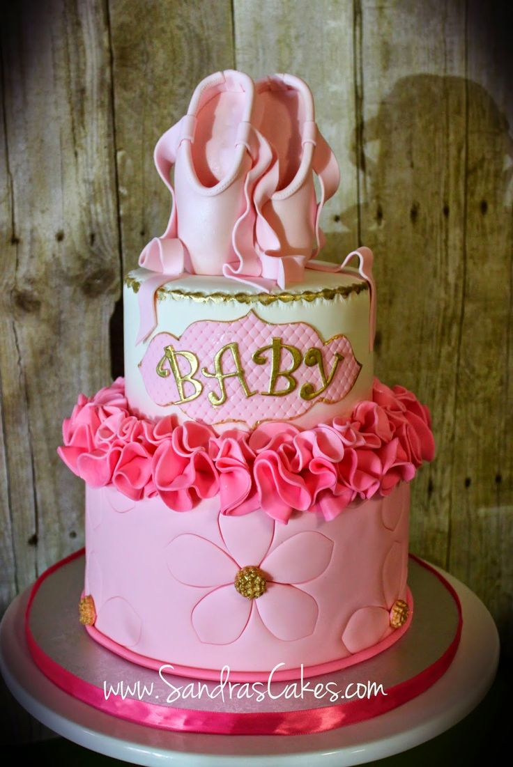 ballerina themed baby shower cake cakes pinterest themed baby