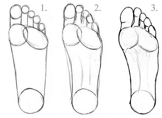 Füße zeichnen lernen