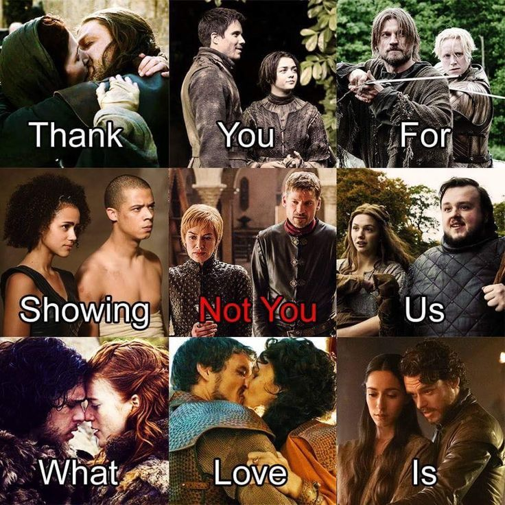Game of Thrones, Thank you for showing us what love is (not you Cersei and Jaime). #ad