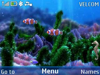 Free Mobile aquarium animat theme by galina53 on Tehkseven