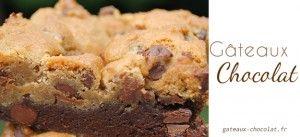 Apprenez à réaliser ce magnifique gâteau américain brookies formé d'une couche de brownies et une couche de cookies.