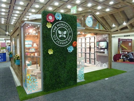 Booth Design Ideas trade show exhibit examples trade show portfolio Best Trade Show Booths Of Natural Products Expo East 2014 The Honest Company Tumericalive