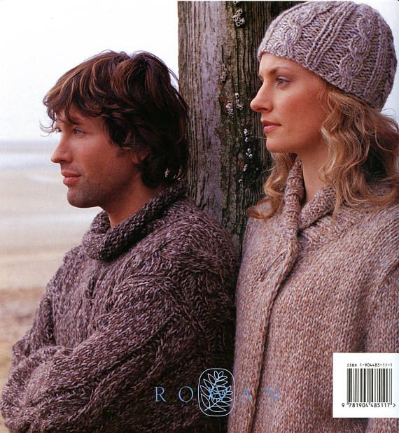Plaid Collection - Rowan Knitting Pattern Book - 16 Designs by Kim Hargreaves for Men & Women  You are purchasing an unused pattern book. Pages clean and tight, no writing, no rips.  Truly wearable choices for men & women - 16 quick to knit designs with instructions to make in multiple sizes - the garments for women tend to go up to 40 inch bust and the mens garments (which I would love for myself!!) go up to 46 chest. Pullovers, cardigans, coats, jackets, vest, hat, poncho and more! ...