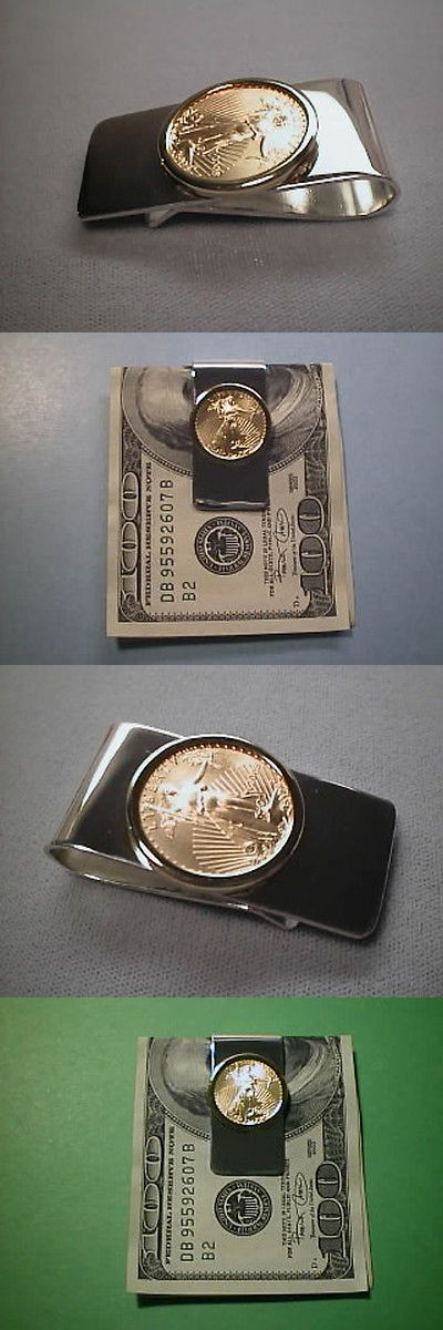 Money Clips 60120: Money Clip 22K Gold Usa 1 4Th Ounce Eagle Coin Sterling Silver Clip And 14K Bezel -> BUY IT NOW ONLY: $1299 on eBay!