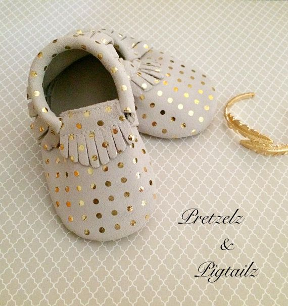 $15.00 Gold Moccasins,Studded, Baby Moccasins, Leather Moccasins, Toddler Moccasins, Coral Moccasins, Baby Shoes, Soft Soles, Photo Shoot Props