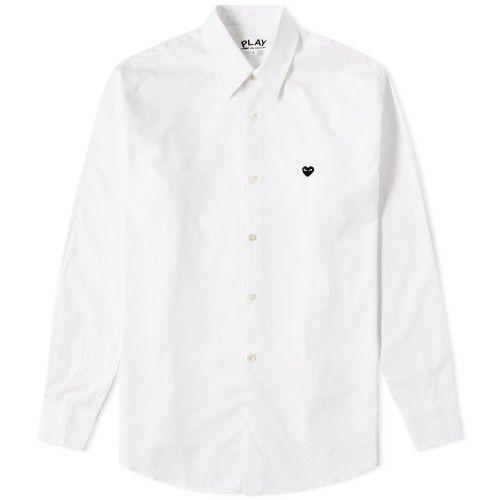 Comme des Garcons Play Little Black Heart Basic Shirt (White)
