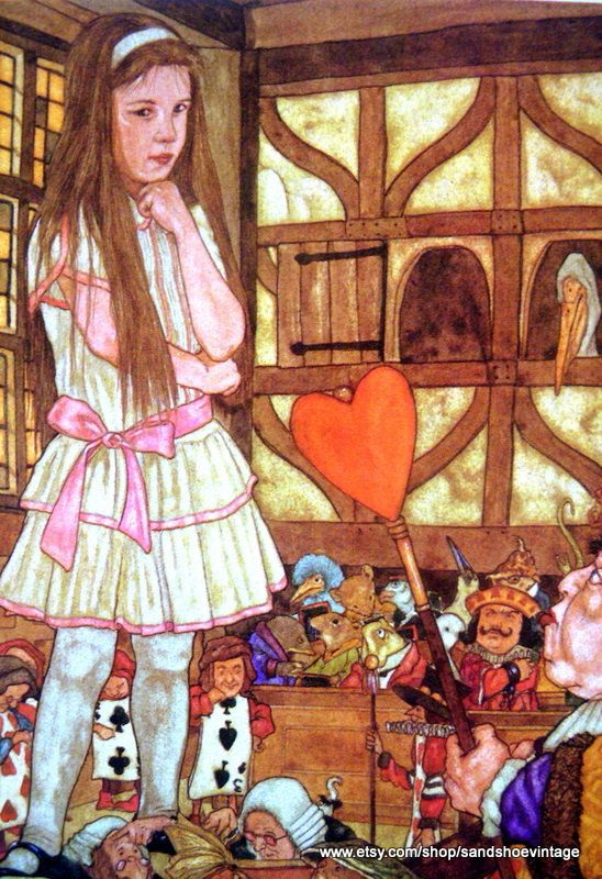 ALICE IN WONDERLAND Alice in Court with the Queen of ...