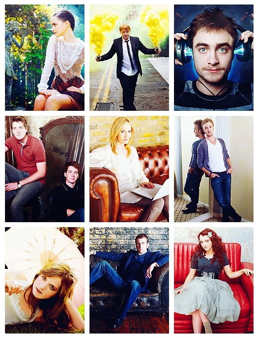 the Harry Potter cast freakin look at Luna!!!!