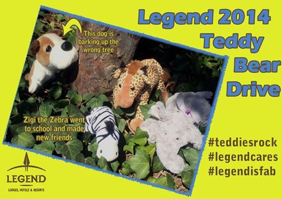 Thank you for donating these awesome Teddies, Please keep them coming, #TeddyBearDrive #Legendcares http://www.legendgolfsafari.com/legend-hospitality-school