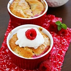 Mini Raspberry Cobblers | Bite and Sip | Pinterest
