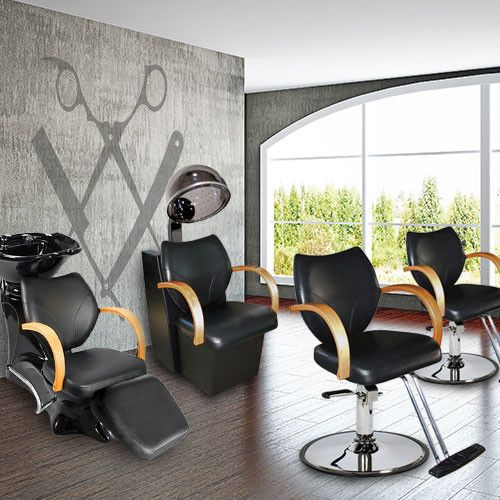 17 best images about modern salon barbershop equipment for Modern salon furniture packages