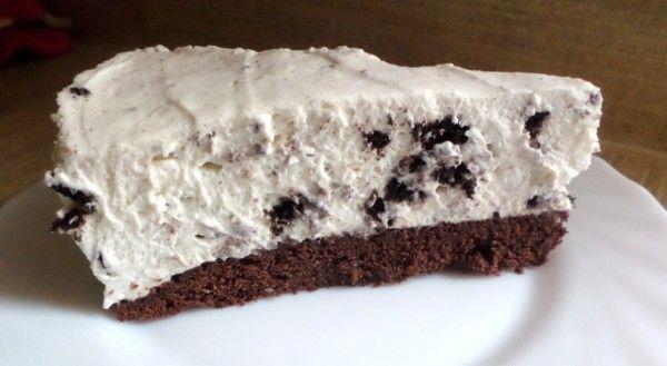 Recept Oreo-monchoutaart met browniebodem, brownietaart, Oreo-taart, Oreo-brownietaart