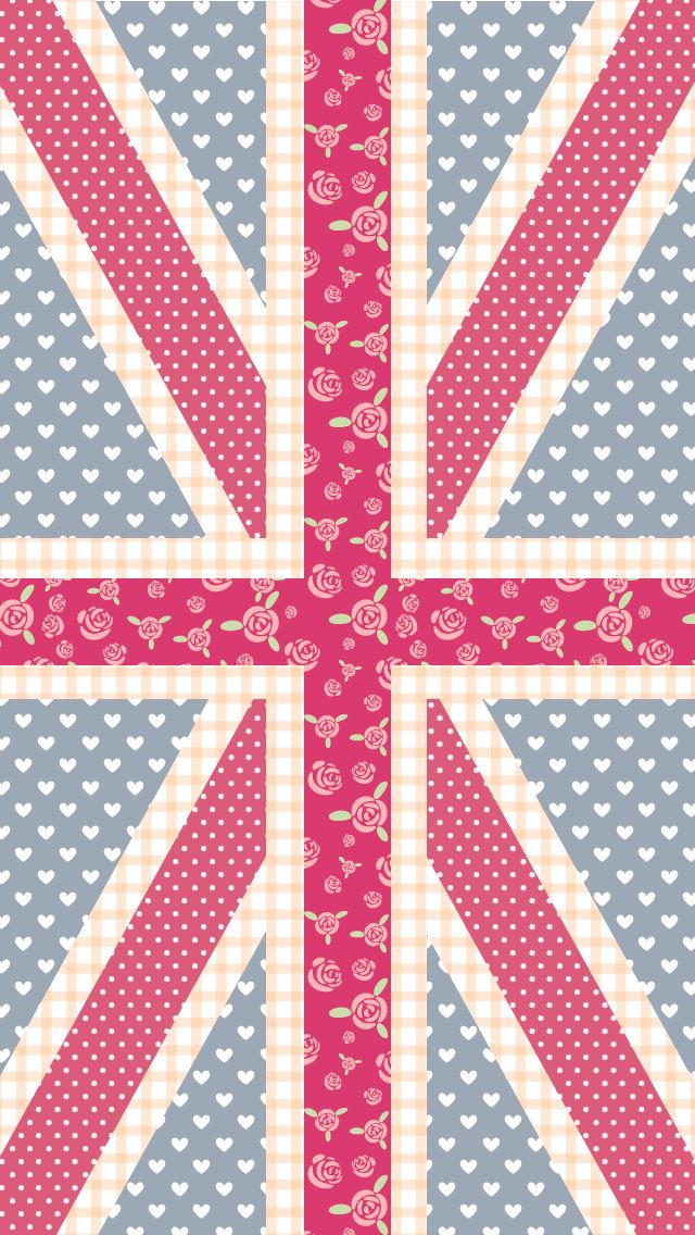 pastel union jack for iphone 5. 640*1136