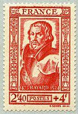 Le chevalier Bayard - Timbre de 1943