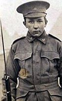 Alec Campbell was another Australian boy who lied about his age. He enlisted as a 16-year-old.