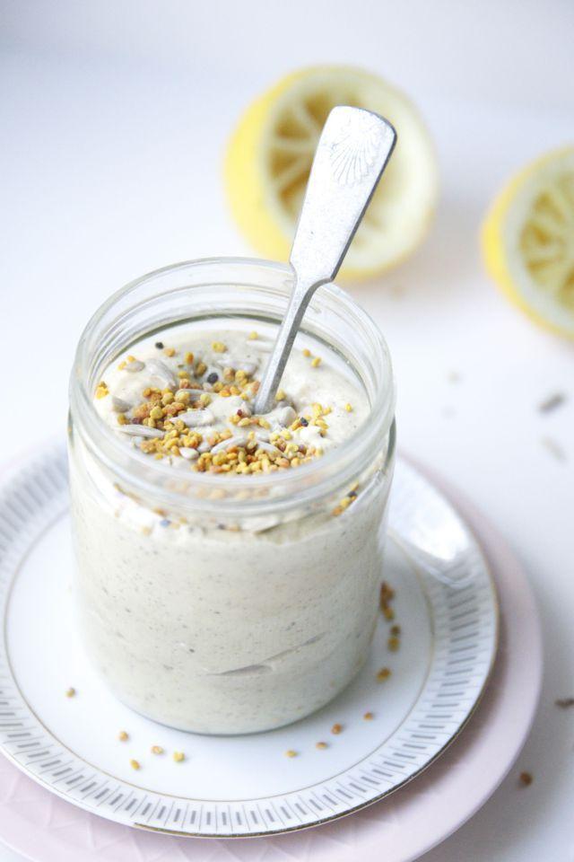 Tropical mango-lemon oat yogurt