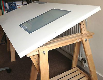 Ikea vika blecket table desk beech artur finnvard for Ikea drafting table with lightbox