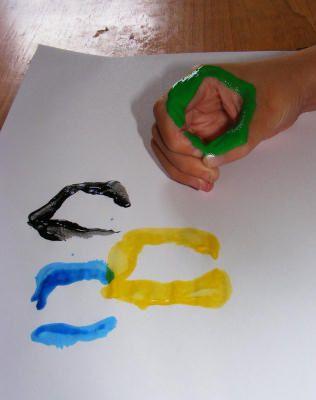 Olympic rings handprint - printing