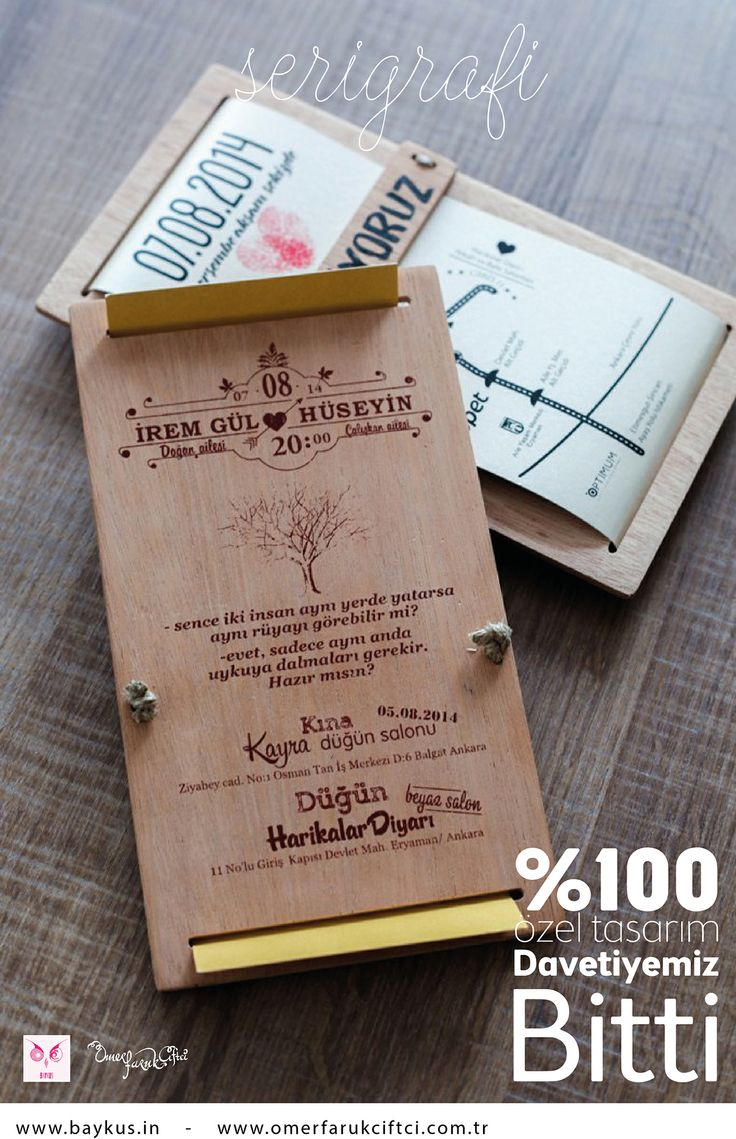 Our New invitation %100 special hand made!!!
