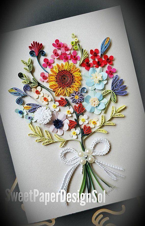 Paper Quilling Art Paper Quilling Bouquet Art Bouquet Paper