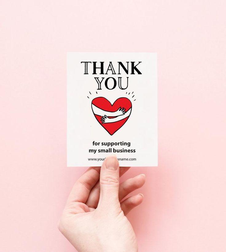 Editable poshmark thank you card small business thank you