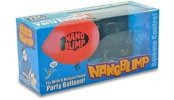 NanoBlimp - 900Mhz Proportional Indoor RC Blimp - Worlds Smallest by NanoBlimp. $49.99. The Nanoblimp is the World's Smallest Remote Controlled Blimp! It uses a regular latex party balloon filled with helium gas to provide the lift. (You supply the Helium gas from a home use disposable cannister you can buy locally), The balloon provides the lift, and you add some ballast weights (included), to achieve neutral buoyancy. 3 independantly controlled propellers provide the thrust...