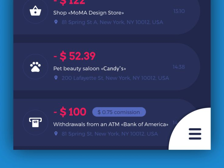 Home Budget App Interactions by tubik