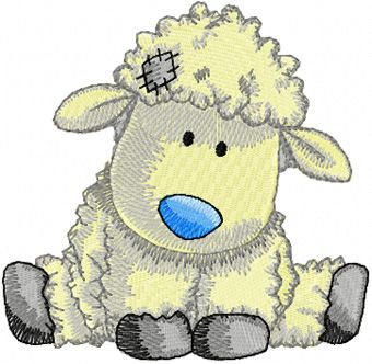cute lamb embroidery design