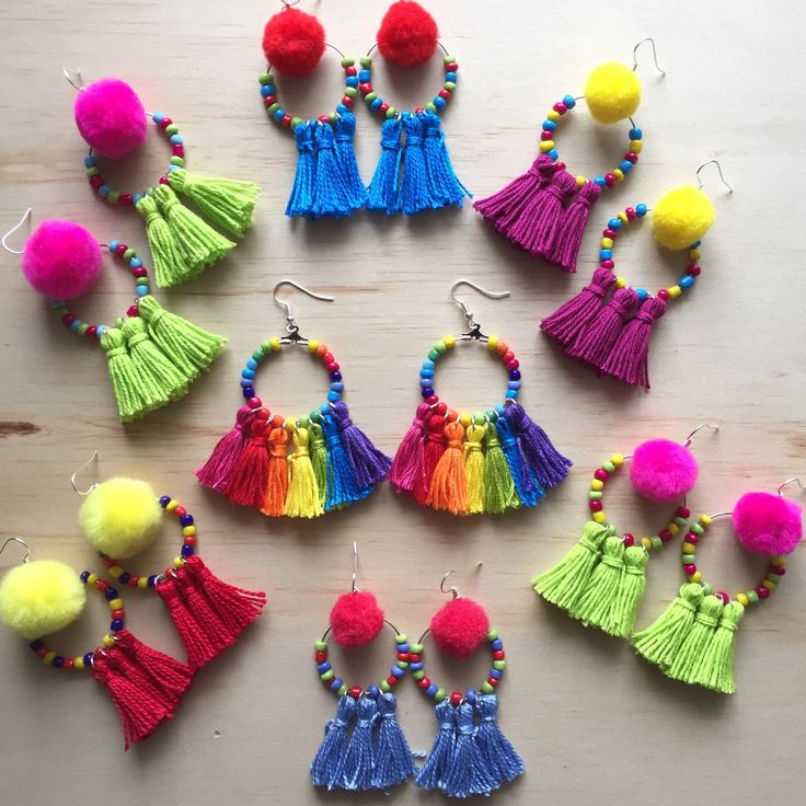 Photographing new Tribal Tassel Dangles  Rainbow Dangles are coming soon!!!