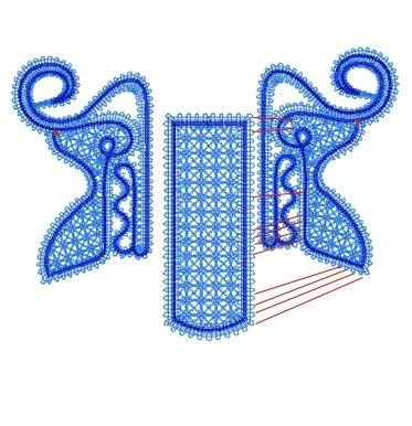 FSL Battenberg Lace Santa' Sleigh Ornament - Advanced Embroidery Designs