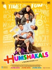 Director Sajid Khan unveiled the first look of the biggest comedy entertainer of 2014, Humshakals, during the high octane India-Pakistan match last night on 'Star Sports 3' : http://sholoanabangaliana.in/blog/2014/03/26/humshakals-first-look-posters-unveiled-during-india-pakistan-match/#ixzz2x8Qqpal8
