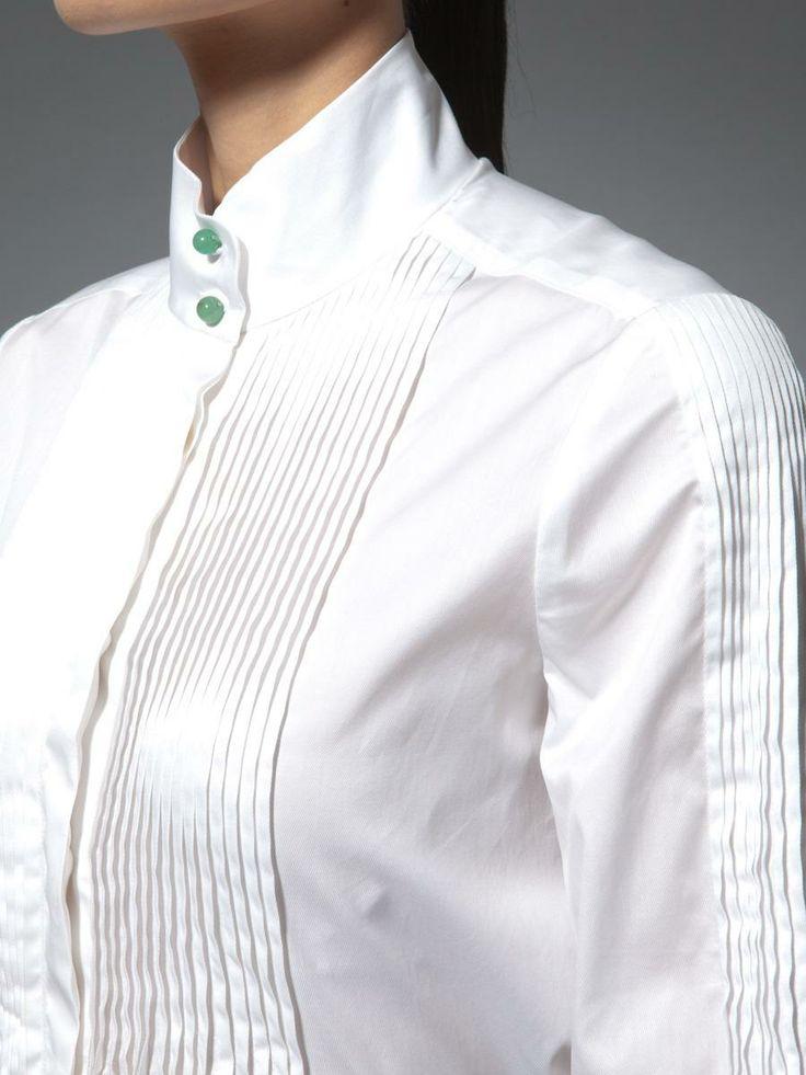 Pin stitch long sleeves shirt