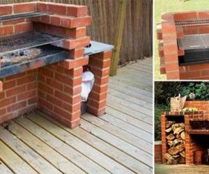 Creative Ideas - DIY Backyard Brick Barbecue