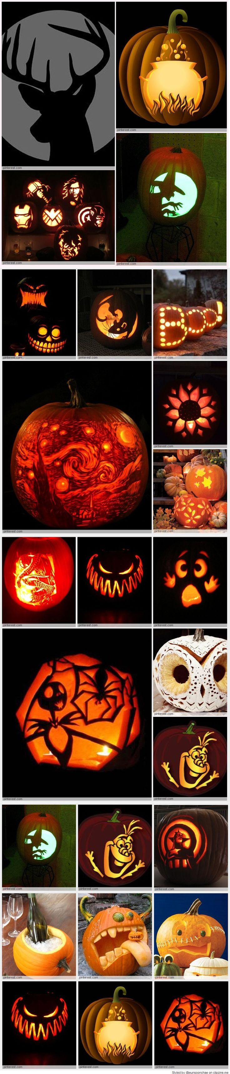 pumpkin carving patterns - Pumpkin Halloween Carving