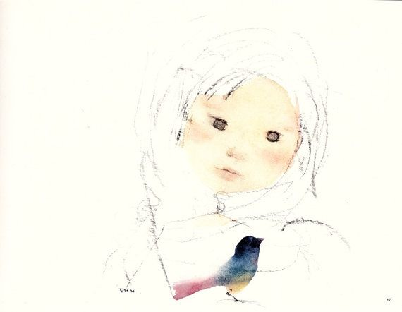 Mother and Child Art Collection by Chihiro by littleoldbooks