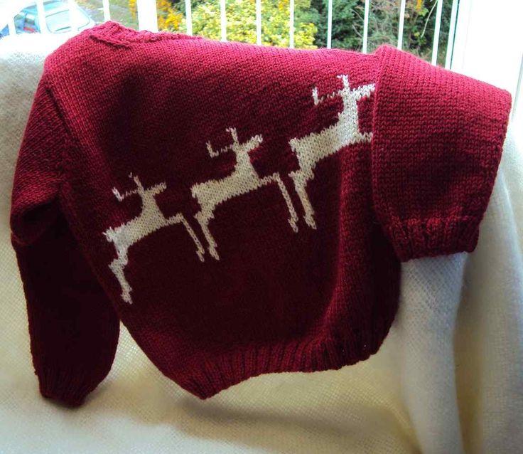 Reindeer Jumper Knitting Pattern | Stitch Craft Create